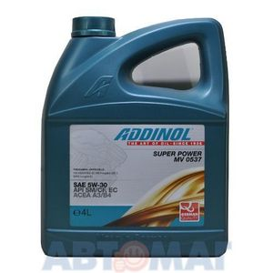 ADDINOL Super Power MV0537 5/30 4л. синт. - картинка 1